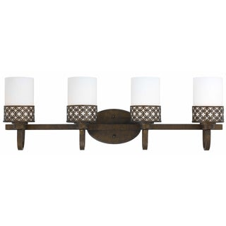 Orion 4 Light Bath/Vanity in Aged Bronze