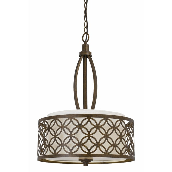 Orion 3 light Pendant in Aged Bronze