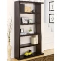 Furniture of America Gridley 5-Shelf Flair Cappuccino Bookcase-Display Shelf