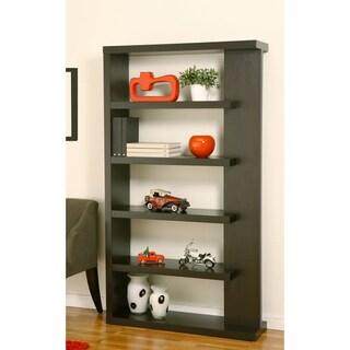 Furniture of America Gridley 5-Shelf Flair Cappuccino Bookcase-Display Shelf