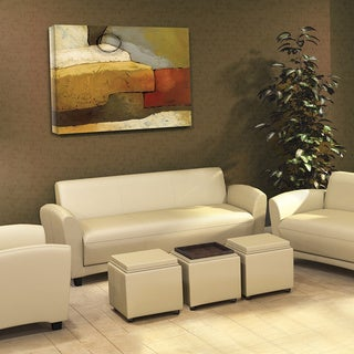 Mayline Santa Cruz Series Occasional Leather Settee