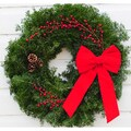 'Holly' day Balsam Wreath - 24-inches