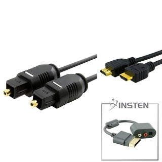 INSTEN Audio Adapter/ HDMI Cable/ TosLink Cable for Microsoft xBox 360