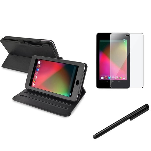 BasAcc Swivel Case/ Stylus/ Protector for Google Nexus 7