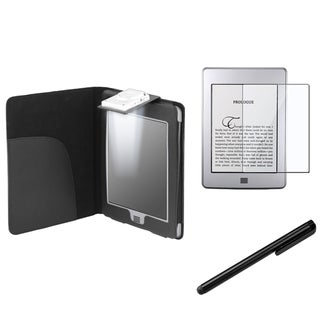 BasAcc Case with Light/ Stylus/ Protector for Amazon Kindle Touch
