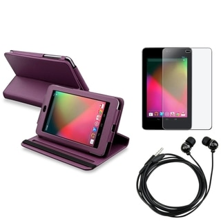 BasAcc Swivel Case/ Anti-Glare Protector/ Headset for Google Nexus 7