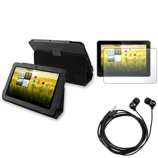 BasAcc Leather Case/ Stylus/ Headset for Acer Iconia Tab A200