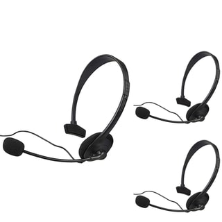 BasAcc Black Headset with Microphone for Microsoft xBox 360/ XBox Slim