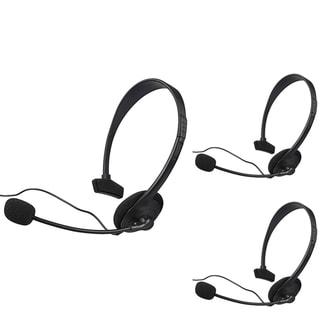 INSTEN Black Headset with Microphone for Microsoft xBox 360/ XBox Slim