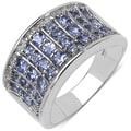 Malaika Sterling Silver 1 1/5ct TGW Tanzanite Ring