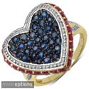 Malaika Gold over Silver Gemstone Ring