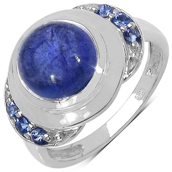 Malaika Sterling Silver 4 1/6ct TGW Tanzanite Ring