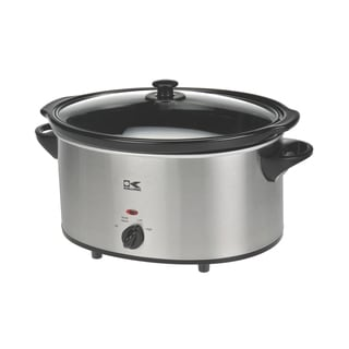 Kalorik 6-quart Stainless Steel Oval Slow Cooker