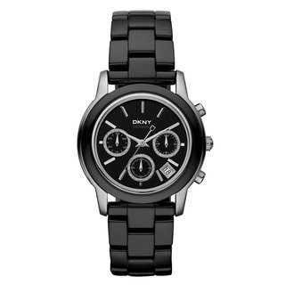 DKNY Women's Black Ceramic Chronograph Watch