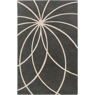 Hand-tufted Lloydminster Floral Wool Rug