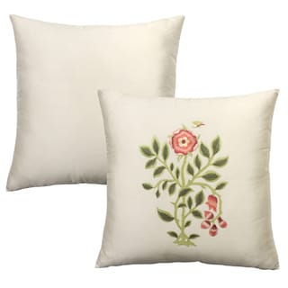 Rose Tree 'Covent Garden' Embroidered Decorative Pillow