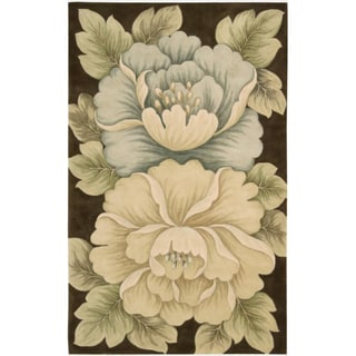 Hand-Tufted Tropical Brown Rug
