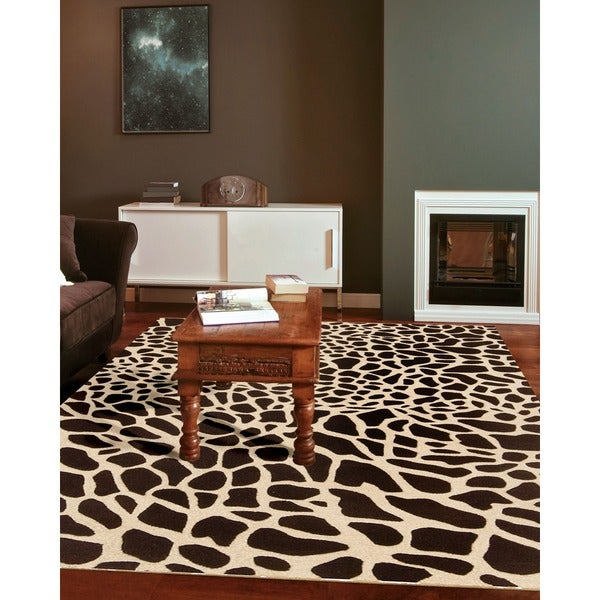 Skyland Brown Animal Print Area Rug