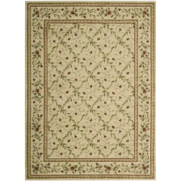 Ashton House Beige Classic Motif Wool Rug