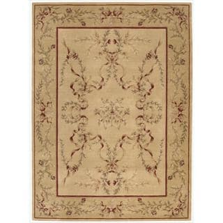 Ashton House Light Gold Classical Motif Wool Rug