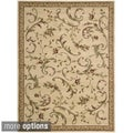 Ashton House Beige Classical Motif Wool Rug