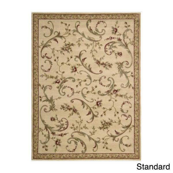 Ashton House Beige Classical Motif Wool Rug