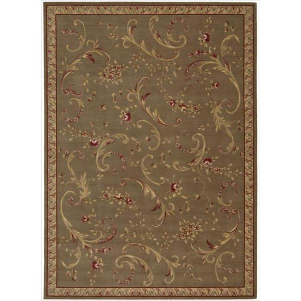Ashton House Olive Classical Motif Wool Rug
