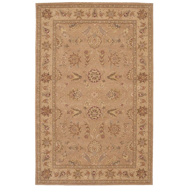 Hand-tufted Heritage Hall Peach Wool Rug