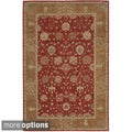 Hand-tufted Heritage Hall Brick Floral Wool Rug