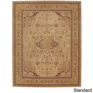 Hand-tufted Heritage Hall Gold Wool Rug