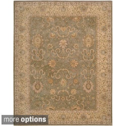 Hand-tufted Heritage Hall Beige Green Oriental Rug