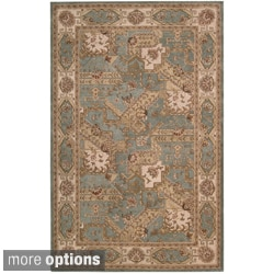 Hand-tufted Heritage Hall Blue Wool Rug