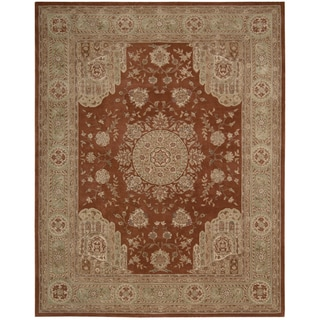 Hand-tufted Heritage Hall Rust Wool Rug