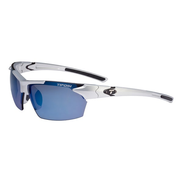 Tifosi Glasses Jet Metallic Silver with Smoke Blue Lens
