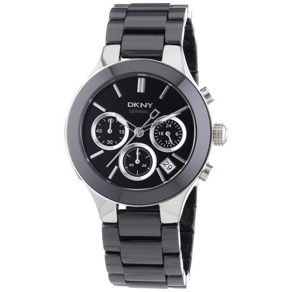 DKNY Women's Ceramic Chronograph Watch