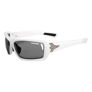 Tifosi Mast Matte White Sun Glasses with Smoke Polarized Fototec Lens