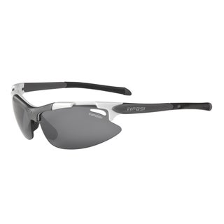 Tifosi Pave Pearl White Sunglasses with Smoke/AC Red/Clear Lens
