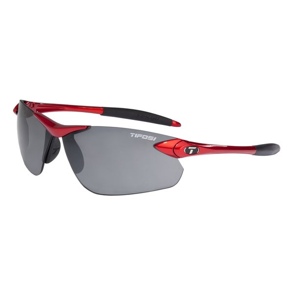 Tifosi Seek FC Metallic Red Sunglasses with Smoke Lens