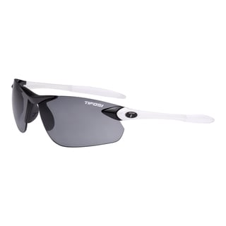 Tifosi Seek FC White/ Black Sunglasses with Smoke Fototec Lens