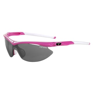 Tifosi Slip Neon Pink Sunglasses with Smoke/AC Red/Clear Lens