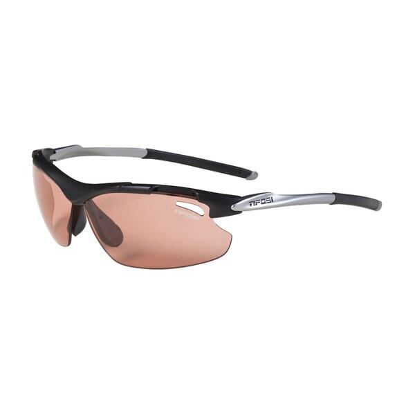 Tifosi Tyrant Matte Black Sunglasses with HS Red Fototec Lens