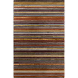Allie Handmade Stripes Wool Rug (5' x 7'6)