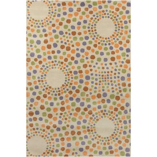 Allie Handmade Feometric Wool Rug (5' x 7'6)