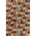 "Allie Handmade Geometric Brown Wool Area Rug (5' x 7'6"")"