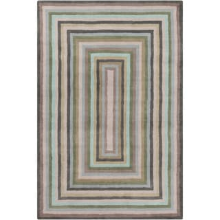 Allie Handmade Geometric 100-Percent Wool Rug (5' x 7'6)