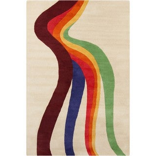 Allie Contemporary Handmade Abstract Wool Rug (5' x 7'6)