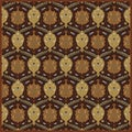 Hand-tufted Usak Dark Olive Brown Wool Rug (9'9 Square)