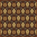 Hand-tufted Usak Dark Olive Brown Wool Rug (8' Square)