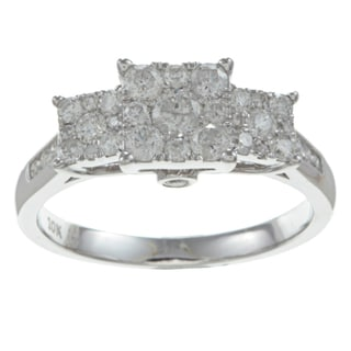 10k White Gold 3/4ct TDW Imperial Diamond Engagement Ring (H-I, I2)