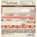 "Lost & Found 3 Ruby Designer Paper Pad 6""X6"" 24/Sheets-12 Double-Sided Designs/2 Each"
